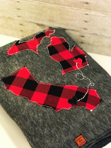 Buffalo Plaid Personalized Long Distance Blanket