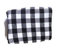Load image into Gallery viewer, Custom State Blanket | Black and White Plaid
