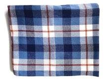 Load image into Gallery viewer, Custom State Blanket | Blue Jean Plaid - HomespunTrades