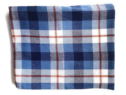 Custom State Blanket | Blue Jean Plaid