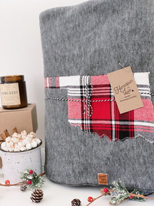 Oklahoma Custom State Blanket | Apple Cider Plaid