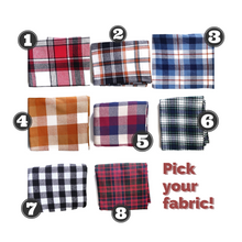 "Load image into Gallery viewer, Custom State Fleece Blanket | Warm Plaid | 6""x90"""
