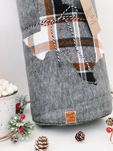Texas Custom State Blanket | Fall Plaid
