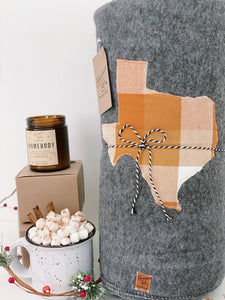 Texas Custom State Blanket | Golden Plaid