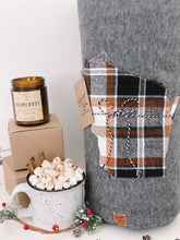 Load image into Gallery viewer, Wisconsin Custom State Blanket | Fall Plaid