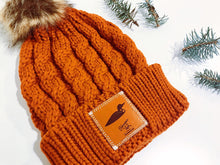 Load image into Gallery viewer, Burnt Orange Winter Beanie with Minnesota Loon Leather Patch