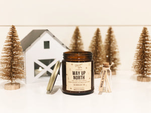 Way Up North Candle | Soy Candle | Valentines Gift | Evergreen | Vanilla | Nugmeg