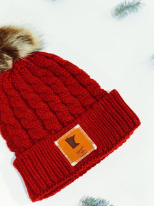 BOGO Minnesota Winter Beanie with Leather Patch