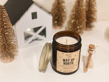Load image into Gallery viewer, Way Up North Candle | Soy Candle | Valentines Gift | Evergreen | Vanilla | Nugmeg
