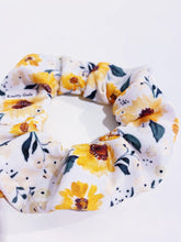 Load image into Gallery viewer, Knotty Gal Scrunchy - Summer's Sunflowers - HomespunTrades