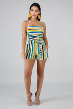 Load image into Gallery viewer, Tube Stripe Romper