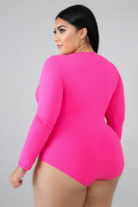 Neon Pink Wrapping Bodysuit