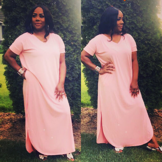 Maxin Out Dress - Pink