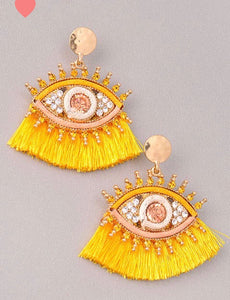 Eye for Eye Earrings (Multiple Colors)