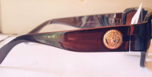 Gold Trim Versace Inspired Sunglasses