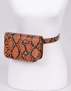 Snake Belt Bag - Orange