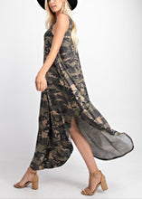 Load image into Gallery viewer, Camo Maxi Dress