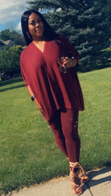 Load image into Gallery viewer, Poncho Set - Burgundy
