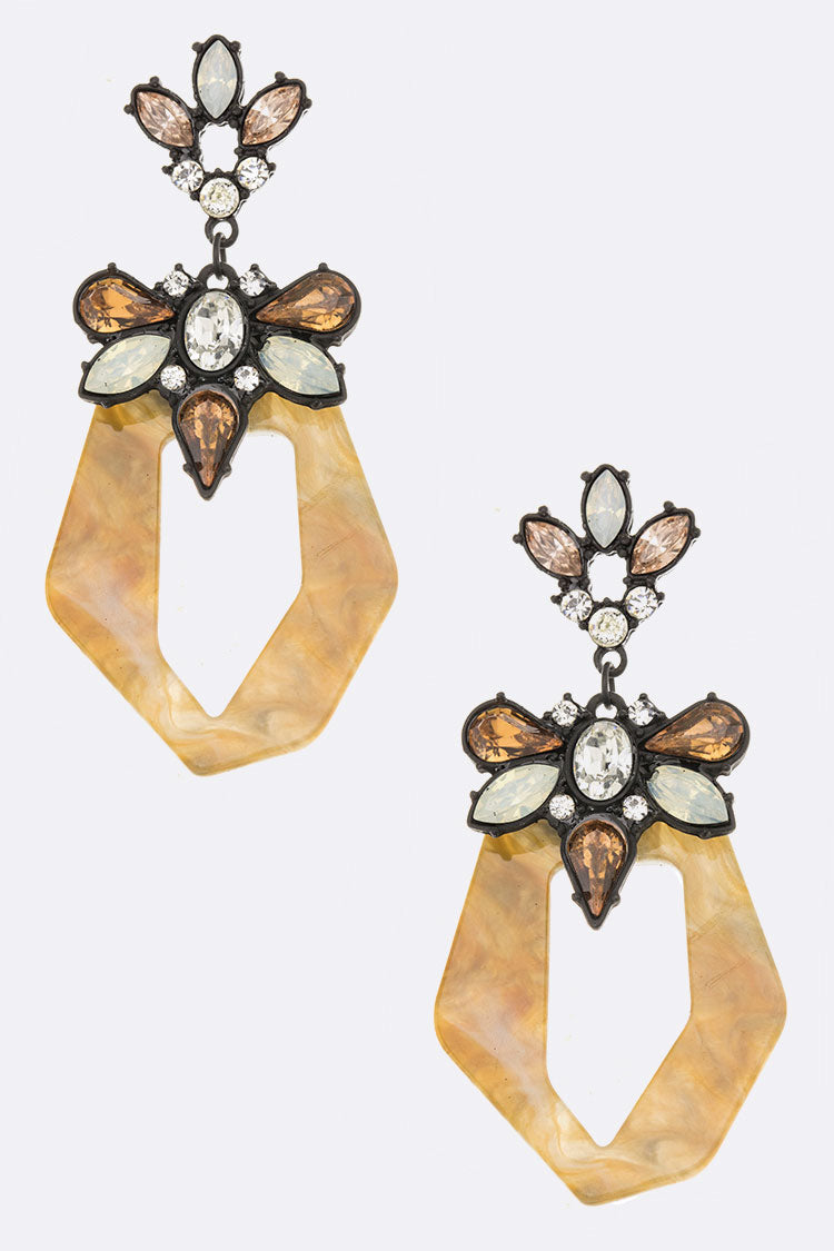 Crystal Iconic Celluloid Earrings