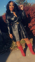 Load image into Gallery viewer, The Ish Faux Leather Dress