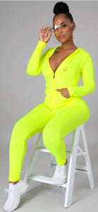Sporty Vibes Set - Neon Yellow
