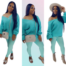 Load image into Gallery viewer, Warmest Occasion Sweater Set - Mint