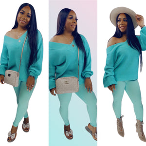 Warmest Occasion Sweater Set - Mint