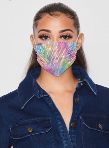 Move Back Fashion Face Cover - Rainbow