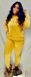 Never Competing Jogger Set - Mustard