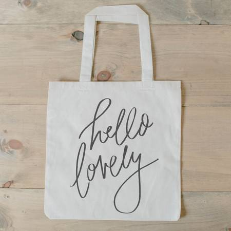 Organic Cotton Tote - Hello Lovely