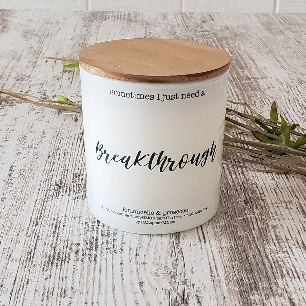 Breakthrough 11oz. Non-Toxic Candle