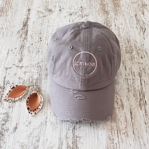 GRACE Khaki Baseball Cap & Earring Duo