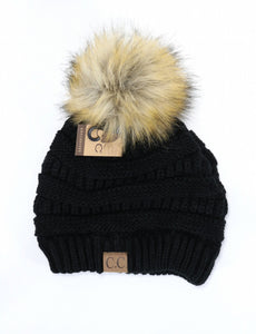 C.C Beanie Pom Hat Free with any Buffalo Checked Blanket