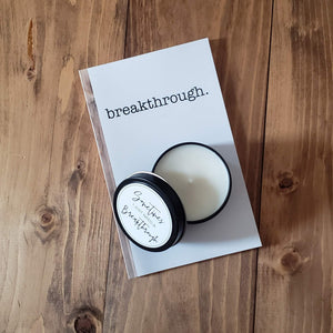 Breakthrough Journal & Candle Bundle