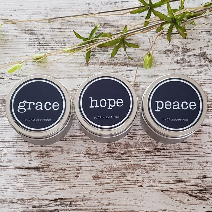 3 pack HOPE-GRACE-PEACE