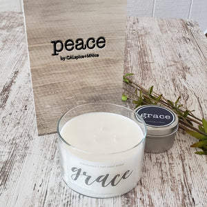 Peace Journal and Hope Mini Candle