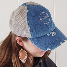 HOPE Denim Trucker Hat & Earring Duo