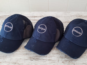 Navy Trucker Hat