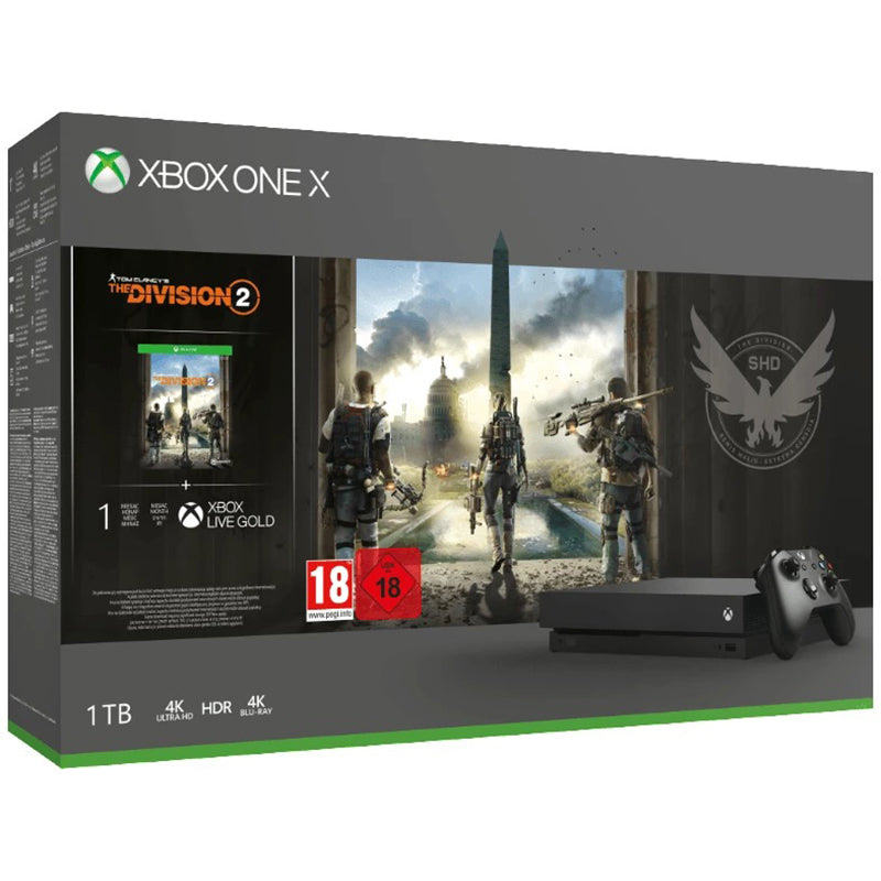 Xbox One X 1TB - Tom Clancy's The Division 2 Bundle - Spielkonsole - Schwarz