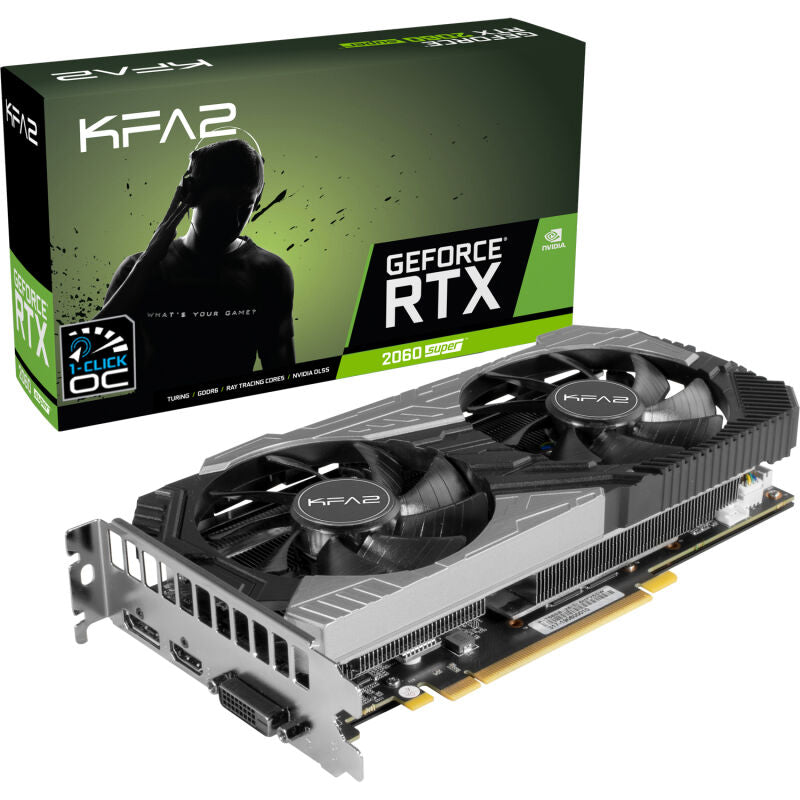 KFA2 GeForce RTX 2060 SUPER [1-Click OC] Grafikkarte 8GB GDDR6 - DisplayPort/HDMI/DVI