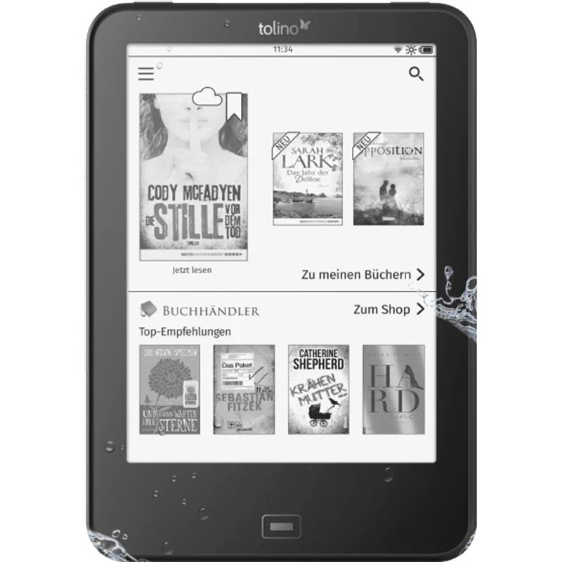 TOLINO vision 4 HD - eBook-Reader (Schwarz)