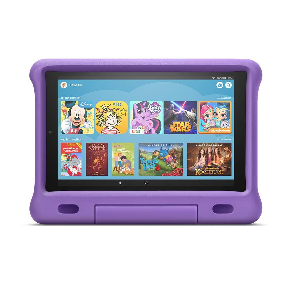 Das neue Fire HD 10 Kids Edition-Tablet | 10,1 Zoll, 1080p Full HD-Display, 32 GB, violette kindgerechte Hülle