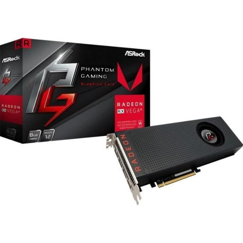 ASRock Phantom Gaming X Radeon RX Vega 56 - 8GB HBM2, HDMI, 3x DP