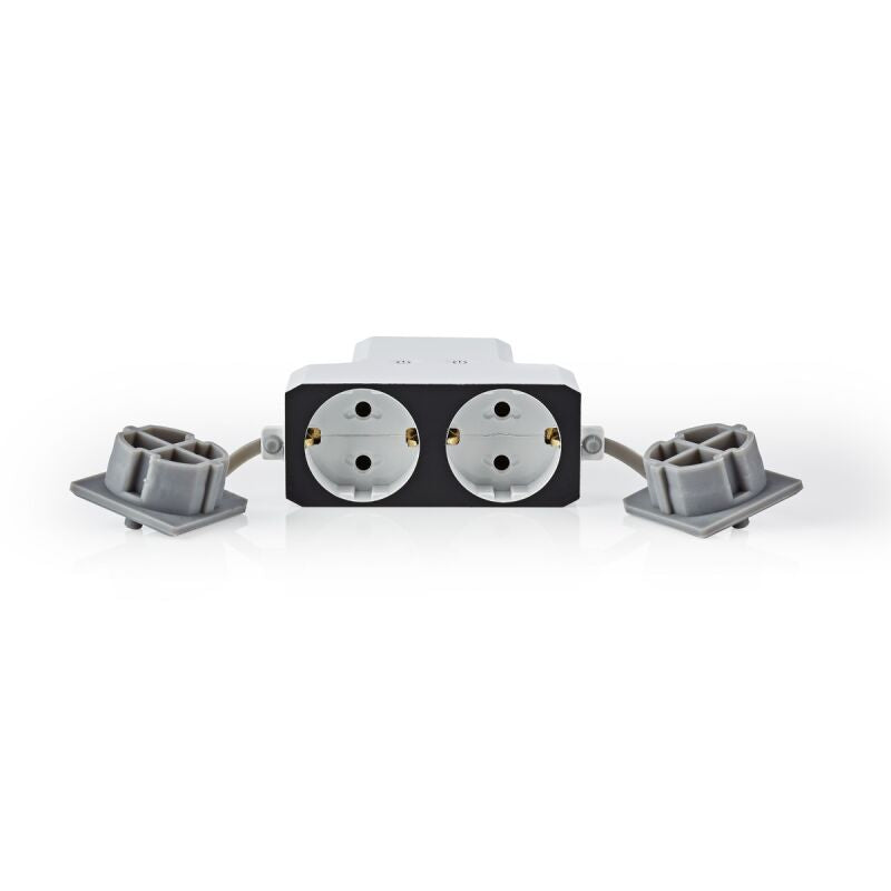 Nedis Wi-Fi Smart Outdoor Extension Socket | 2x Schuko Type F | Wetterfest | IP55 | 16 A