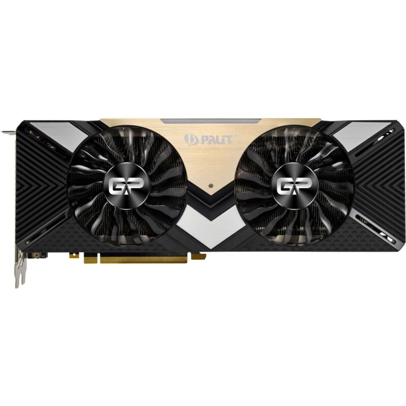 Palit GeForce RTX 2080 Ti Dual 11GB GDDR6 Grafikkarte - 3x DisplayPort/1x HDMI/1x USB Type-C