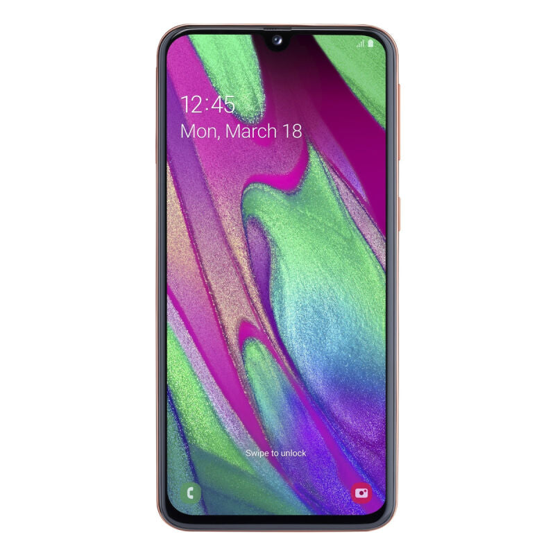 "Samsung Galaxy A40 64GB Dual-SIM Coral [14,92cm (5,9"") OLED Display, Android 9.0, 16+5MP Dual-Hauptkamera]"