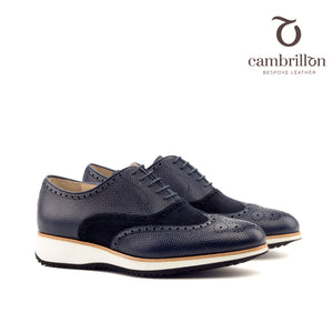POL Full Brogue Oxford heeled wedge running sole