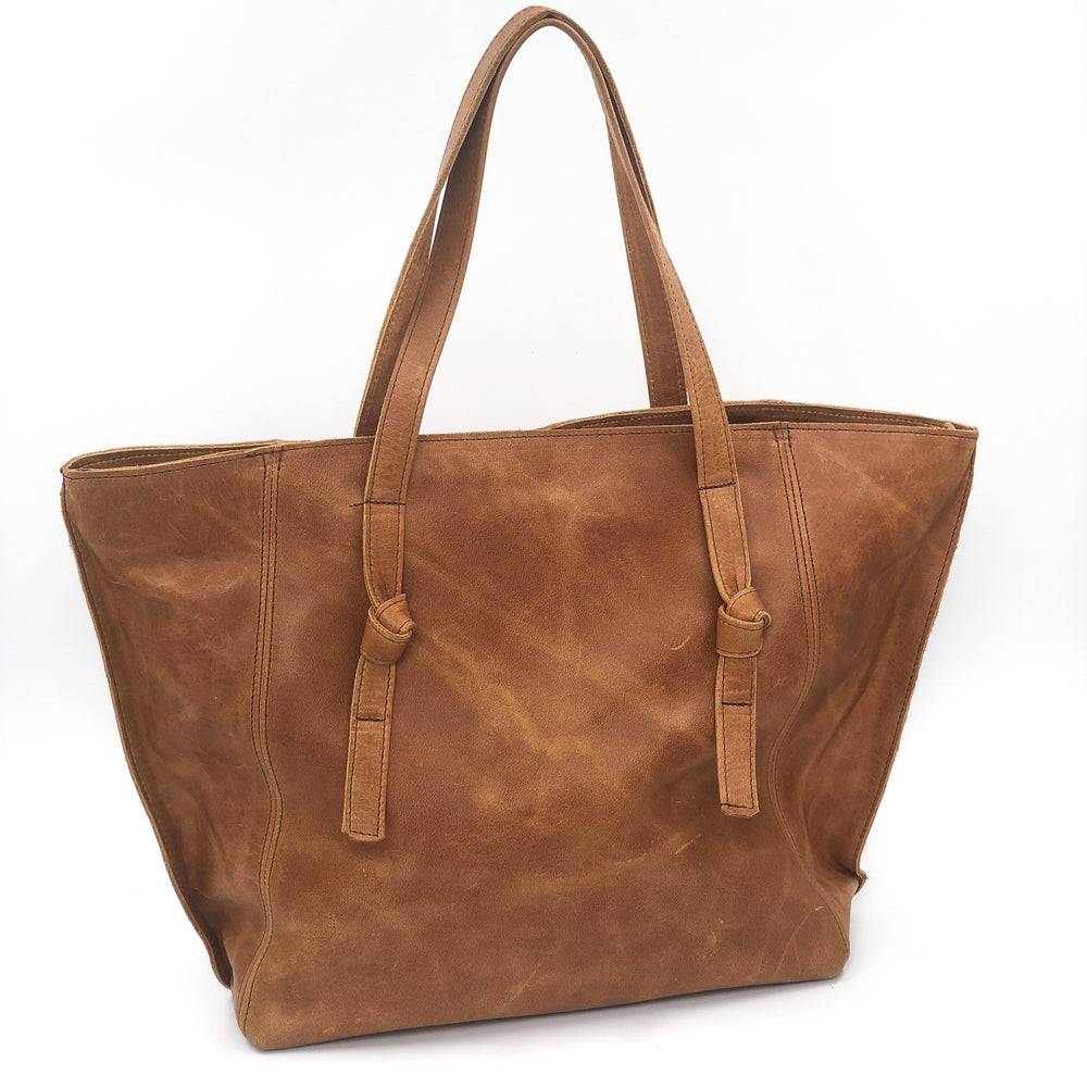 Sleek Leather Tote Bag