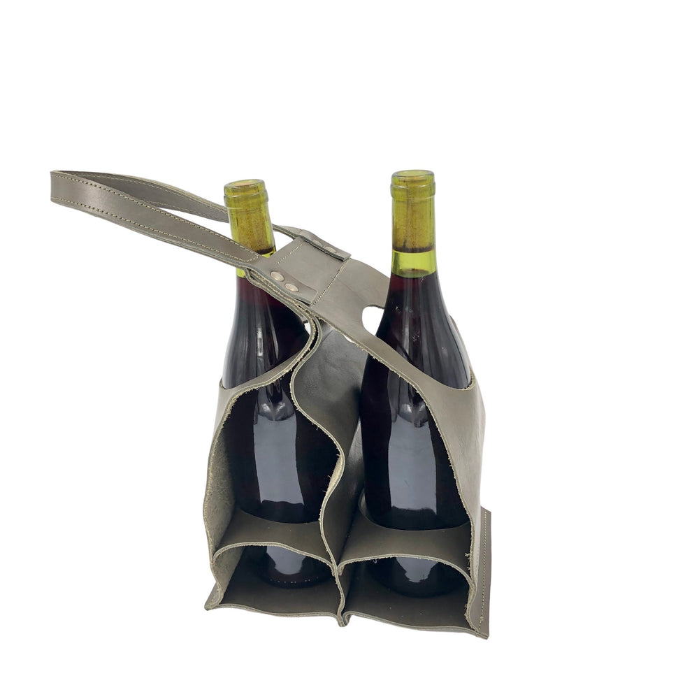 Leather wine caddy | wine bag | Bovine Leather