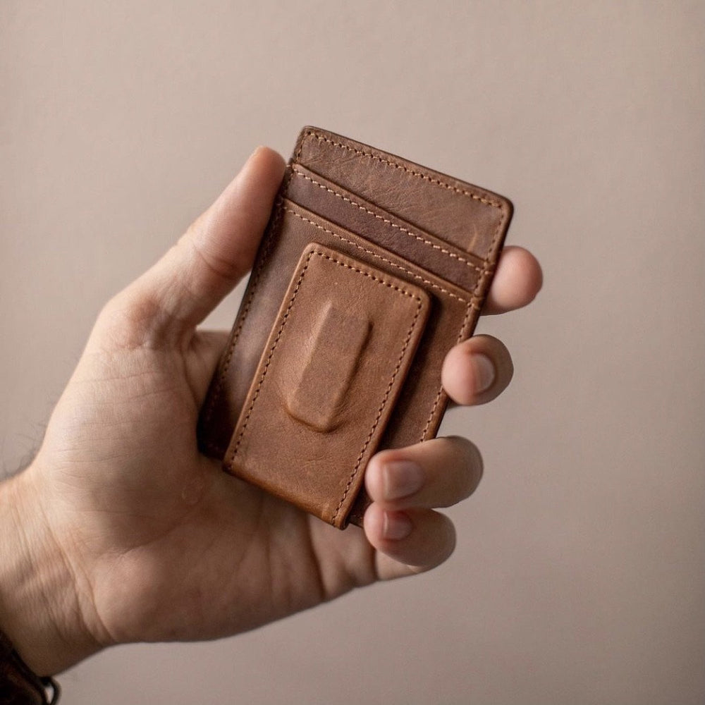 Minimalist Leather Money Clip